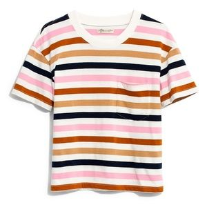 NWT Easy Crop Tee in Beatrice Stripe Size S Small